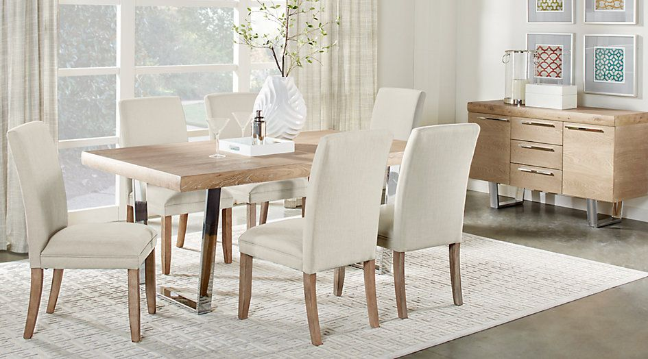Cindy Crawford Home San Francisco Ash 5 Pc Dining Room Sets Light Wood