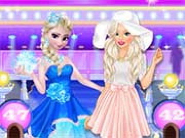 Jogos De Vestir 360 Barbie Vs Elsa