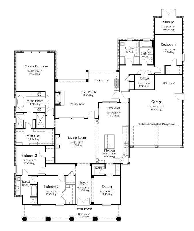 House Plan 2776 Square Feet 4 Bedroom 3 Bath, Louisiana