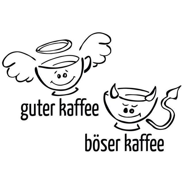 Photo of Wall decal »good bad coffee«
