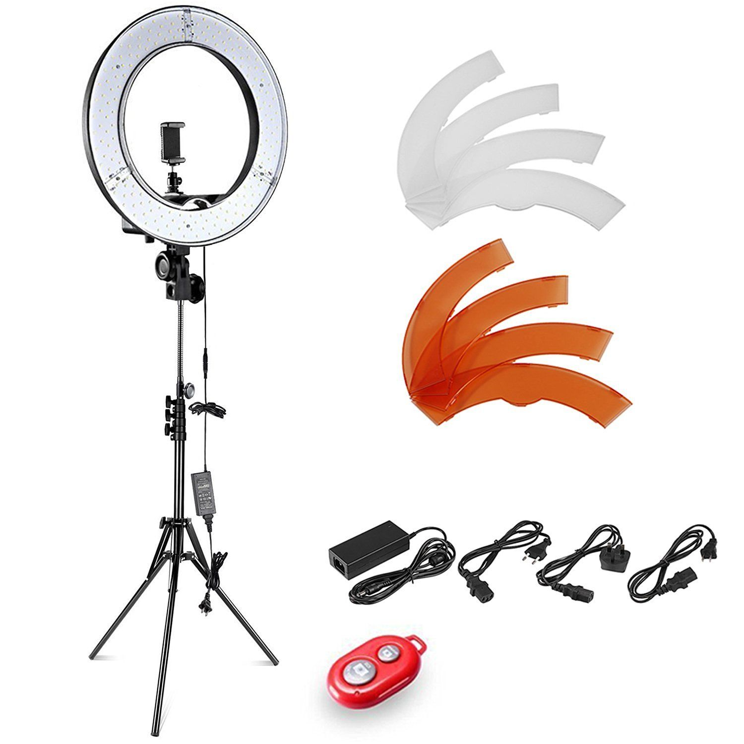 Neewer 14 Quot 36cm Outer Led Ring Light Kit With Light Stand Soft Tube 2 Color Filter Hot Shoe Adapter Bluetooth Led Ring Light Selfie Light Camera Photo
