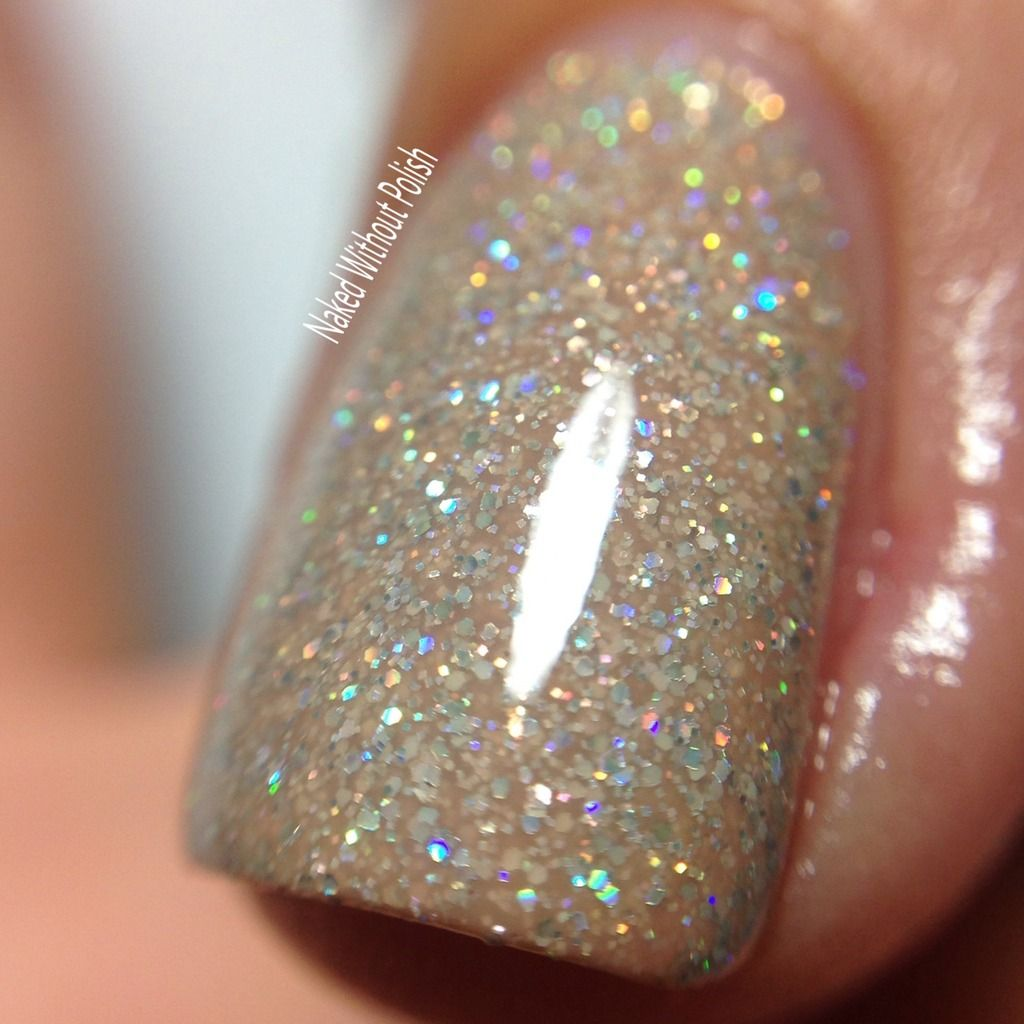 Macro Of Kbshimmer A Hint Of Manila In Direct Light Kbshimmer Swatch Polish Nyc