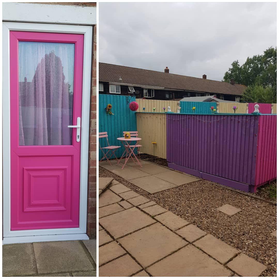 Now the back door matches the garden!