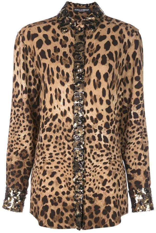 127bca5fcc8e03 Dolce & Gabbana Embellished leopard-print Shirt in 2019 | Products ...