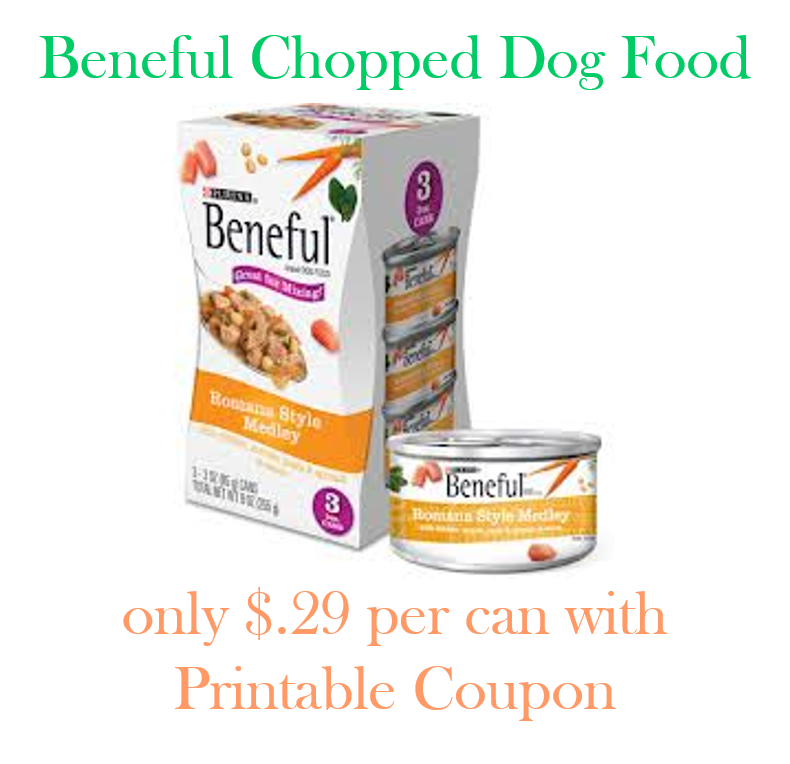 New Beneful Chopped Dog Food Coupon Pay Only 0.29 Each
