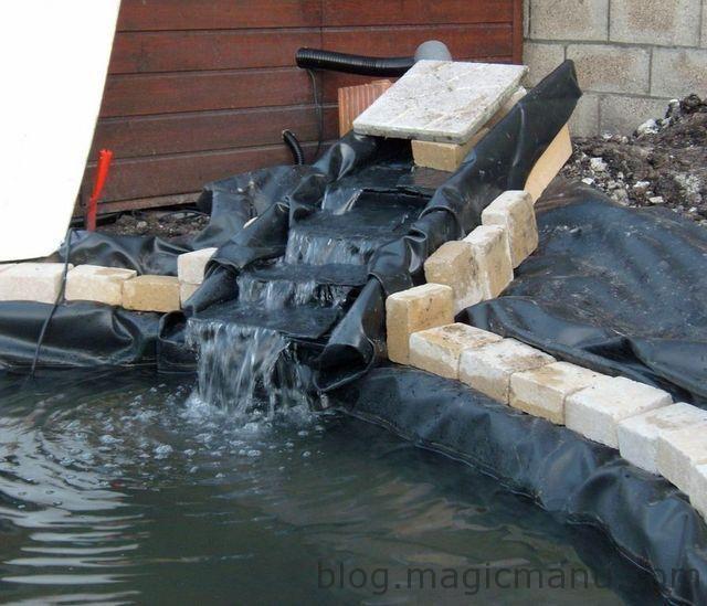 latest juai commenc une cascade pour le bassin juai fabriqu une structure en bois en forme