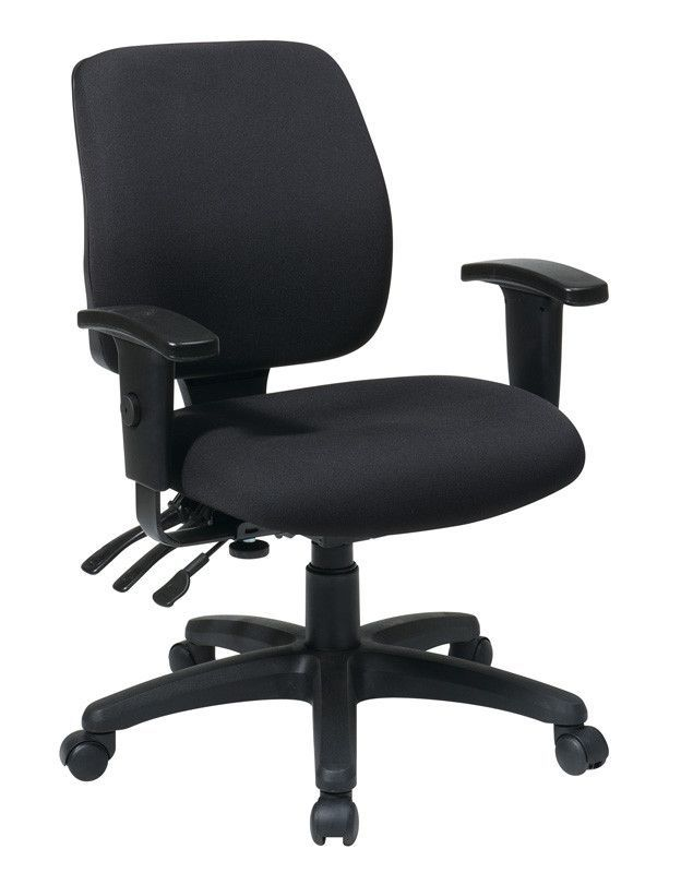 Office Star Work Smart 33327 30 Mid Back Dual Function Ergonomic Chair With Ratchet Height Adjustment Arms
