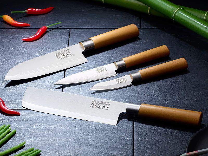 Tokiokitchenware Haushalt Messer 4 Teiliges Kuchen Messerset