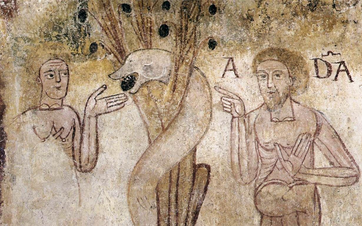 Fresques de l'église Saint-Jean-des-vignes à Saint Plancard (la chute)