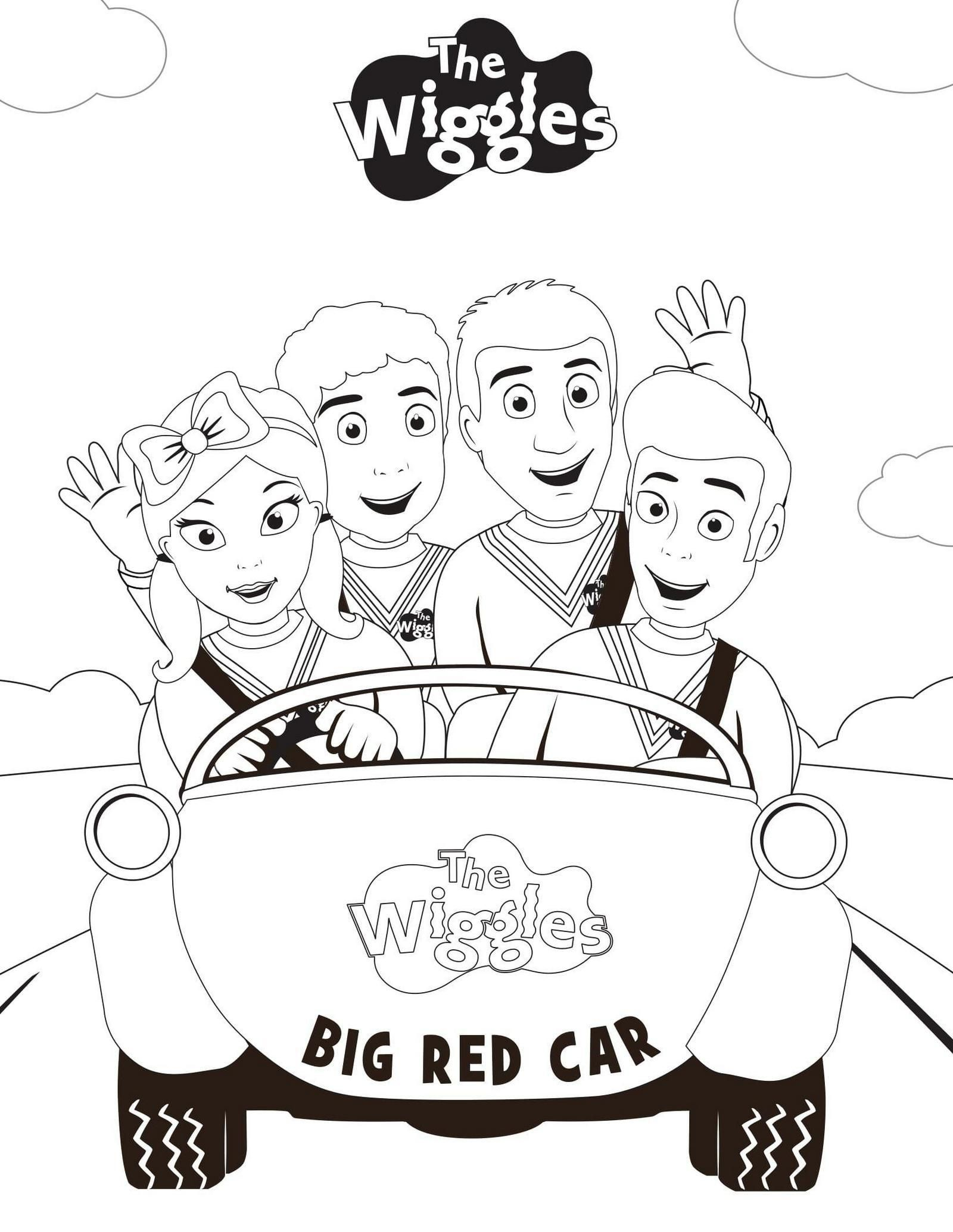 new wiggles coloring pages - photo#14