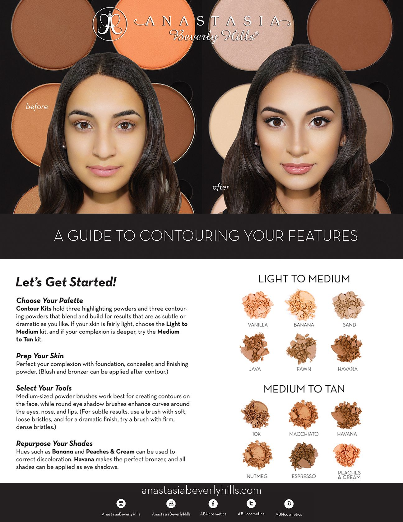 A guide to Contouring your features from Anastasia Beverly Hills #BeyondTheBrow