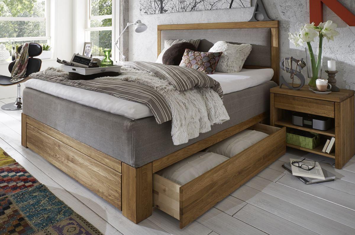 boxspringbett modell 1203 mit schubk sten und holzrahmen mehr auf massive. Black Bedroom Furniture Sets. Home Design Ideas