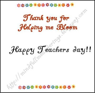 Teacher S Day Card Handmade With Images Teachers Day Card