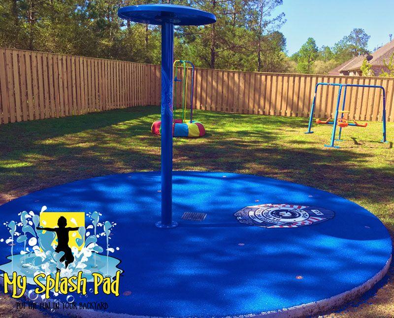 My Splash Pad Give Back Program Police Officer Residential Splashpad Pads Splashpads Home Backyard Spray Fountain Installer Builder
