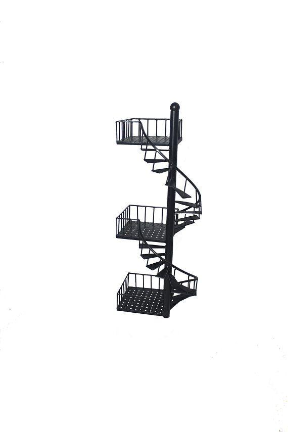Best Metal Craft Fire Escape Spiral Stairs Wall Art Wall Shelf 400 x 300