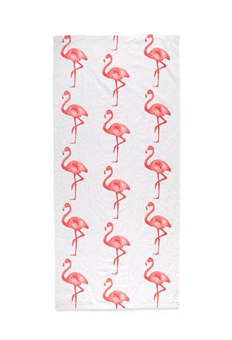 Flamingo Beach Towel Forever 21 F21home Flamingo Beach