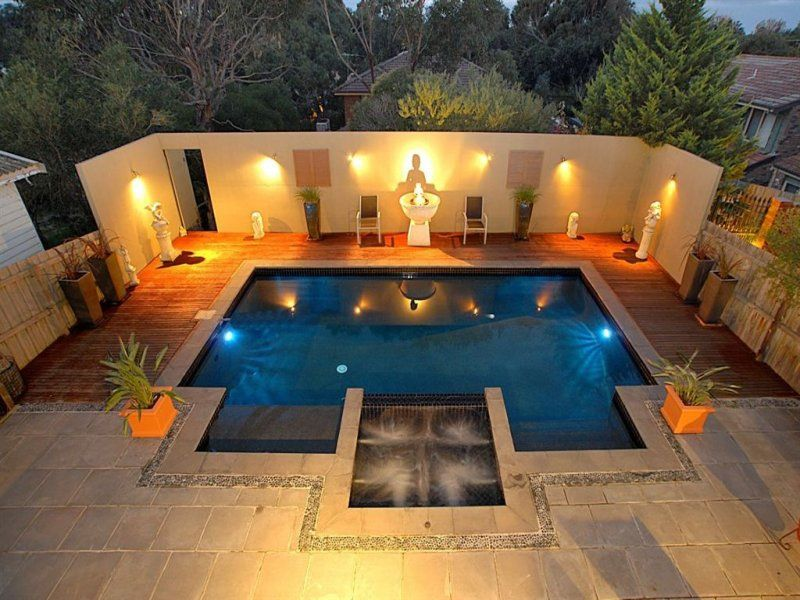 Best swimming pool ideas with wall lighting decor and wood fence best swimming pool ideas with wall lighting decor and wood fence design mafindhomes aloadofball Gallery