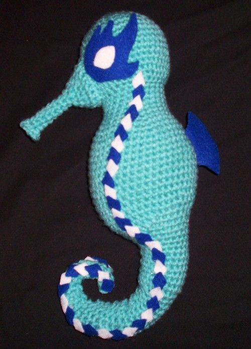 free #amigurumi crochet pattern: Seahorse, K will love this ...