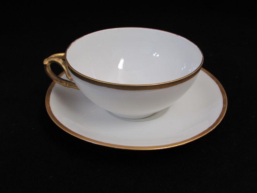 Antique Limoges Teacup And Saucer Jpl France White