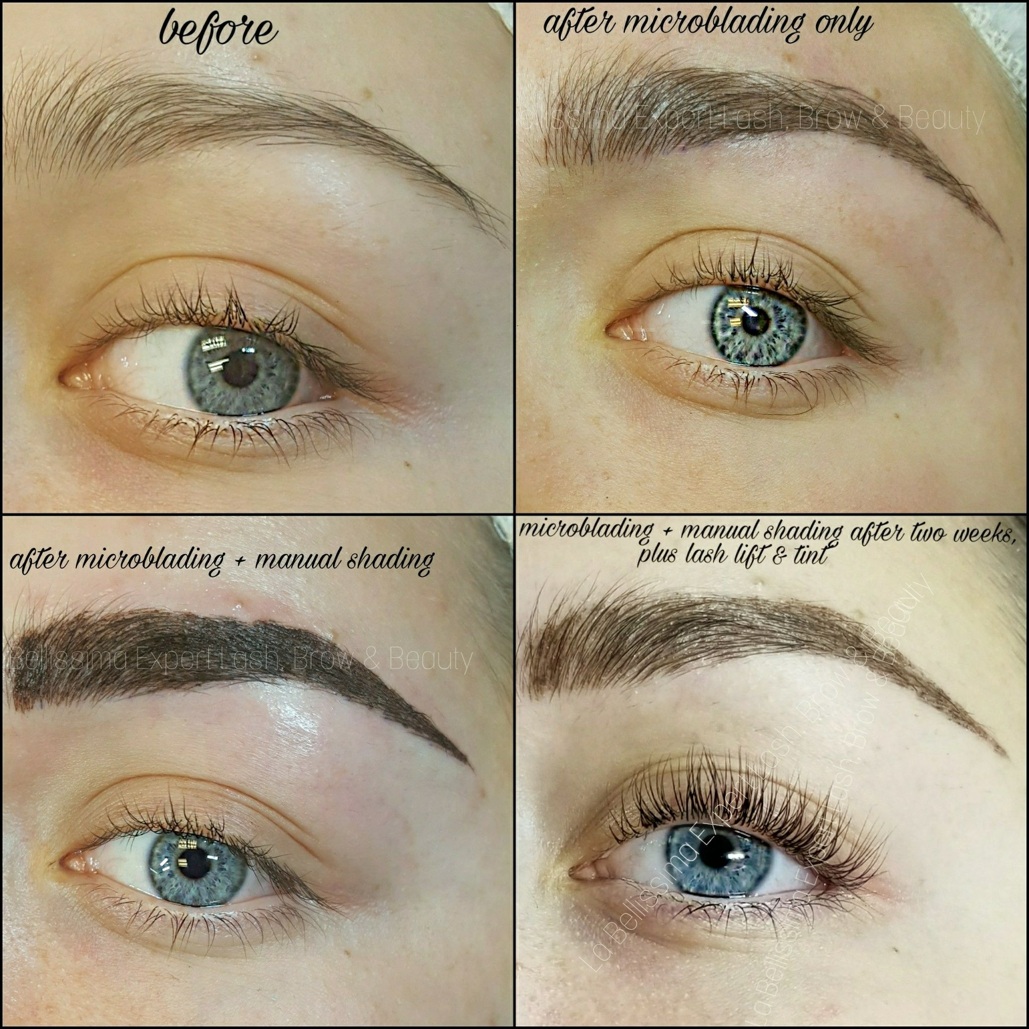 She wants very strong brows, but see how much they faded in