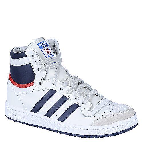 Buy Adidas white and navy Top Ten Hi