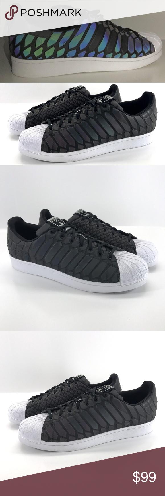 aa186d09fdb Adidas Superstar Xeno Prism 3M D69366 Reflective Adidas Superstar Zeno Men s  Size 12 Black White Lace