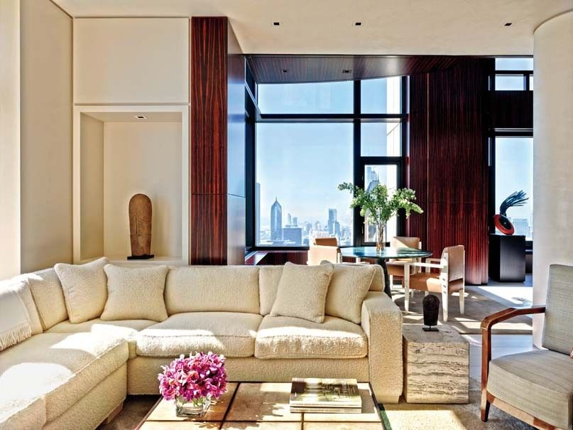Modern Living Room By Atelier Am Via Archdigest Designfile High Rise Apartments Living Room Lounge Architectural Digest