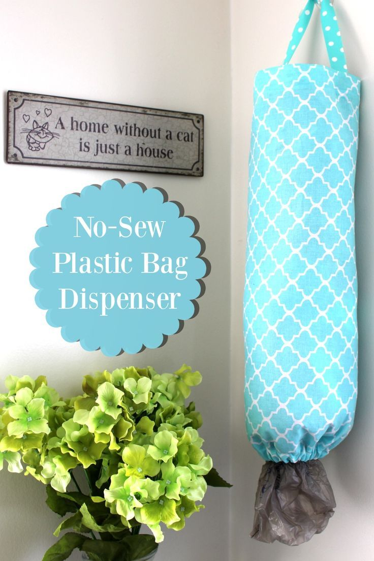 Learn how to make your own DIY No Sew Plastic Bag