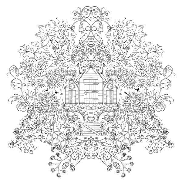 desenhos para colorir e desestressar baixe e imprima gardens on coloring book pages secret garden