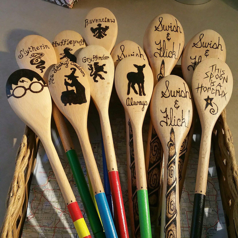Custom made Harry Potter Wood spoons