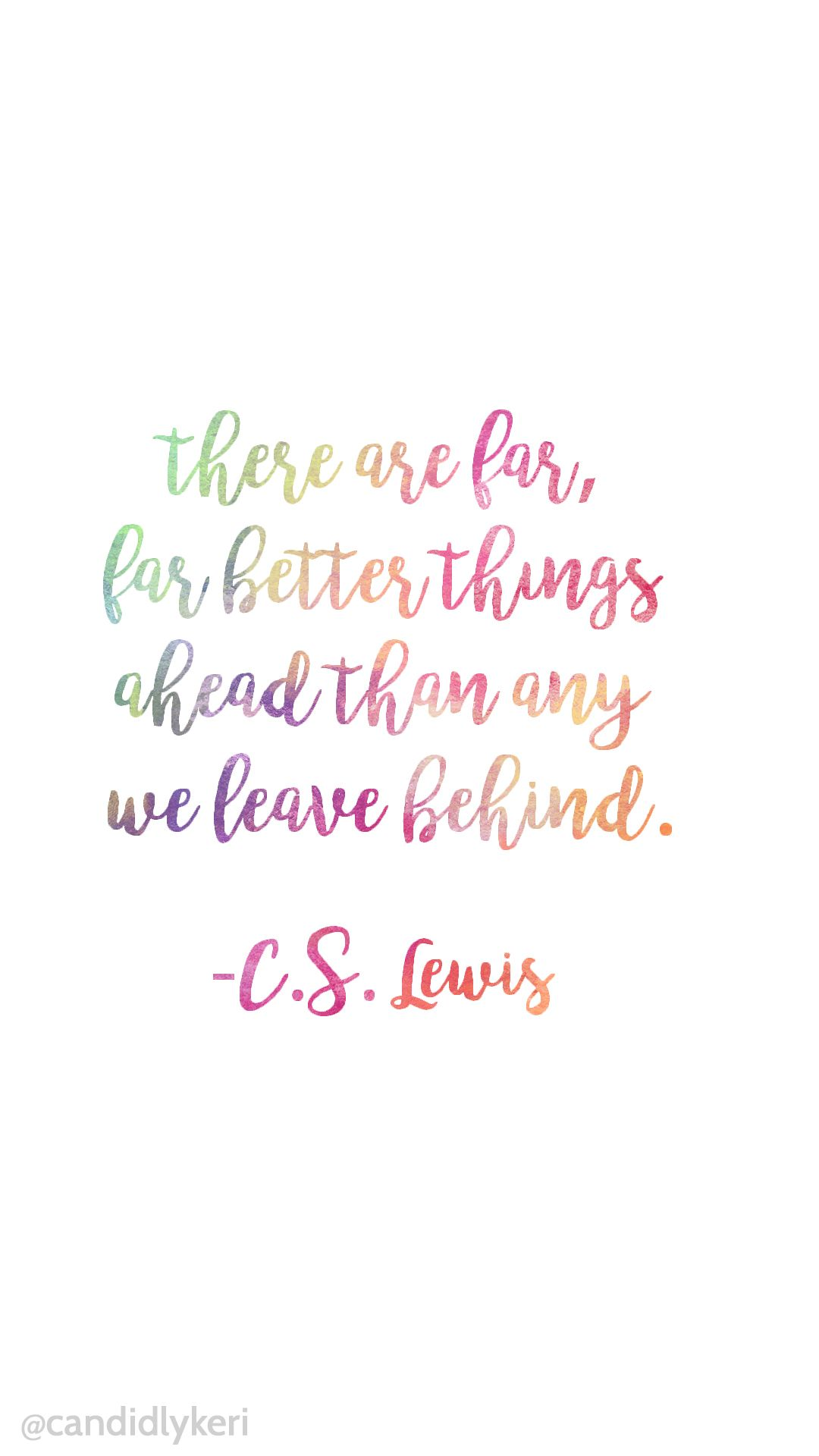 Amazing Colorful Watercolor Quote Background CS Lewis And White Iphone, Andriod,  Desktop Free Download