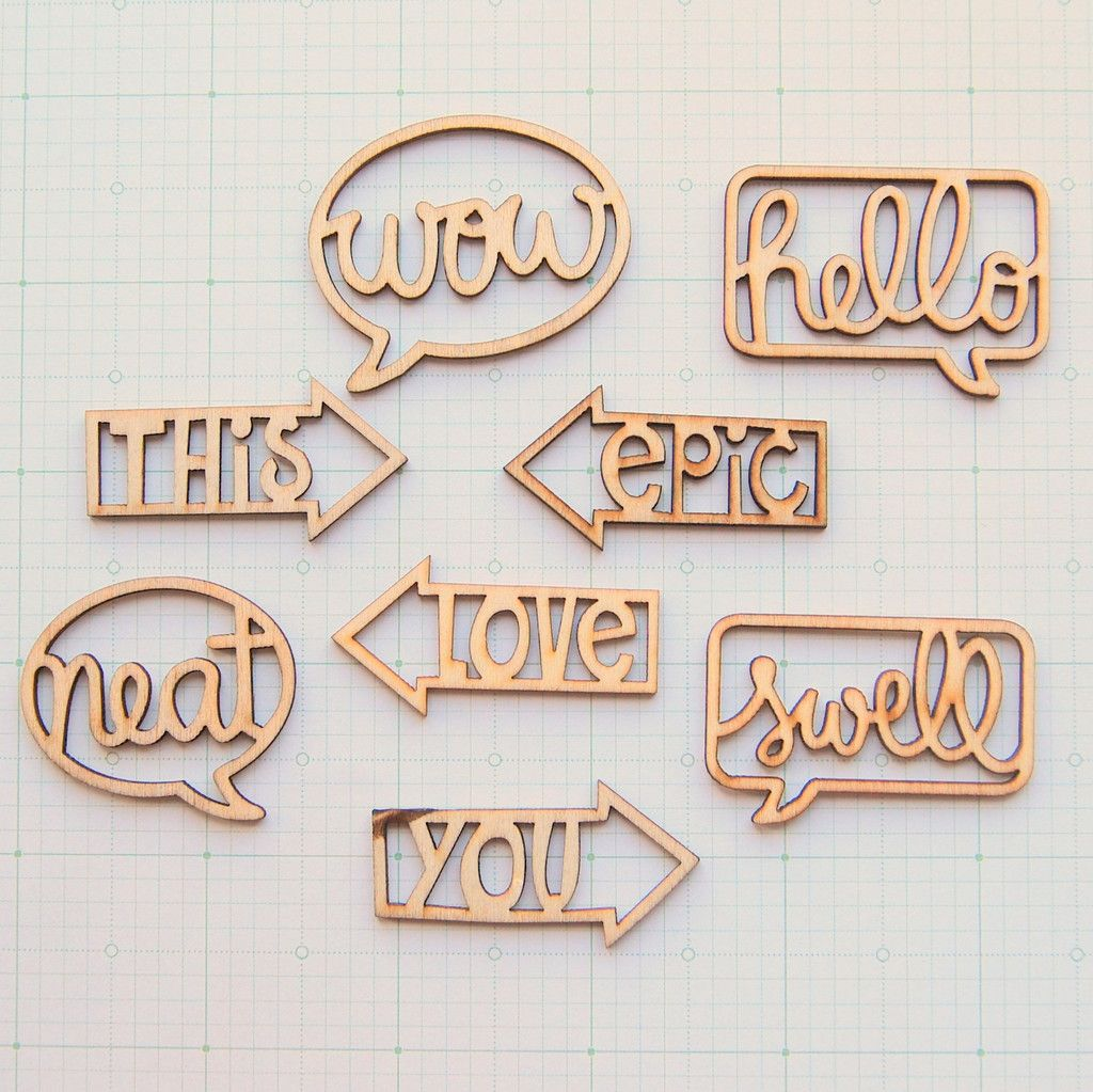 laser cut, scrapbook wood sayings signs