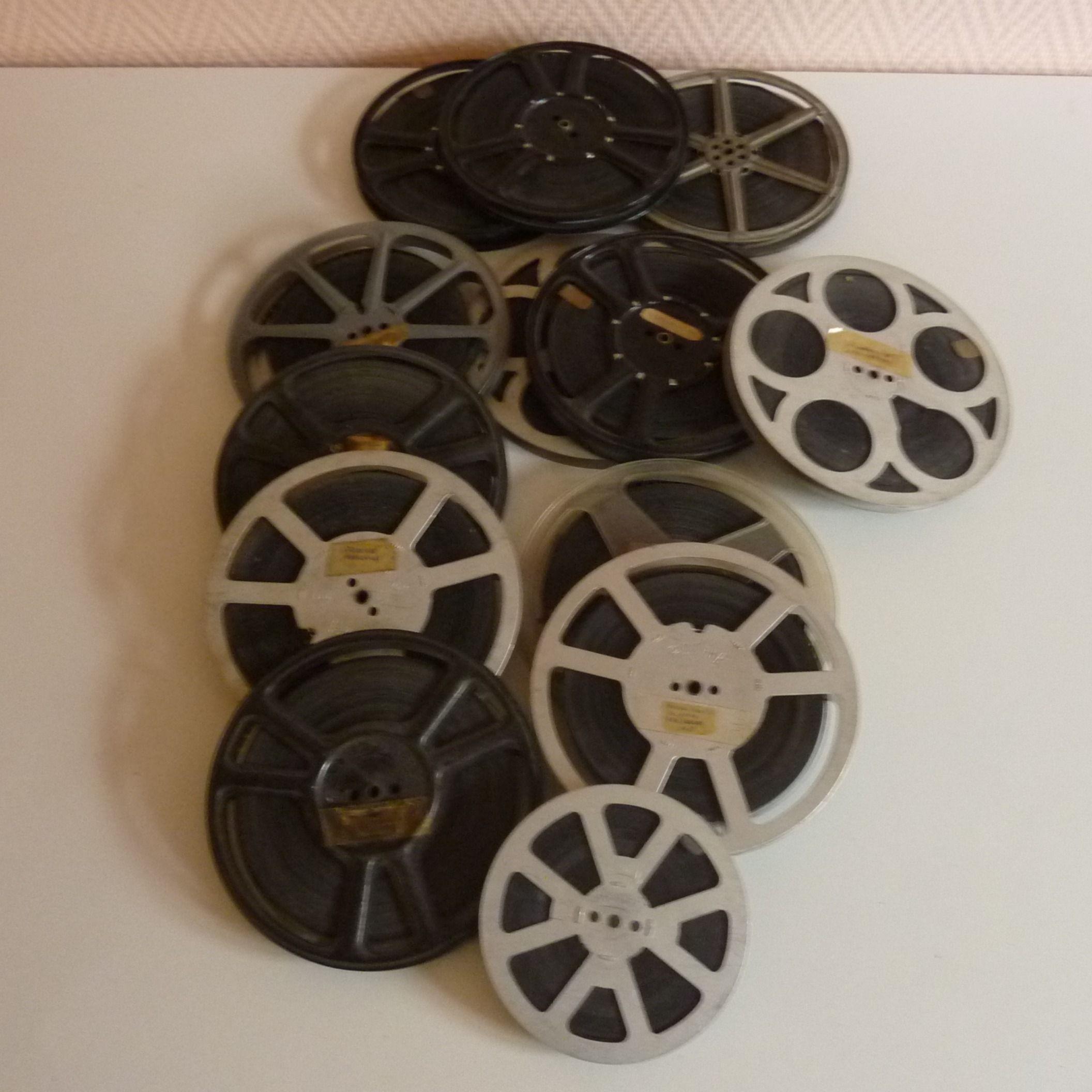 Bobines de films Pathé Baby 9,5 vintage lot de 13. 1/ Fim