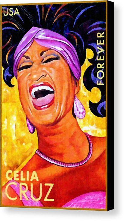 Celia Cruz Canvas Print / Canvas Art by Jeelan Clark in 2019