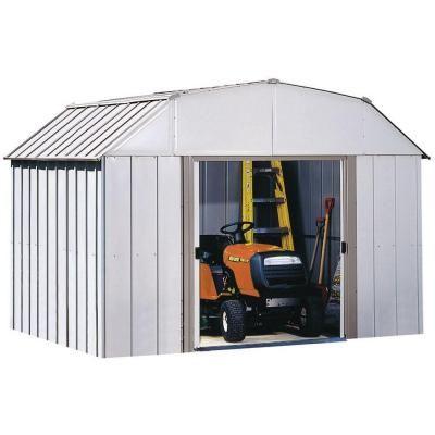 Arrow Dakota 10 Ft X 8 Ft Steel Shed Dk108 At The Home Depot Steel Sheds Shed Outdoor Storage Sheds