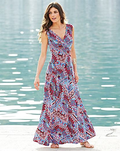96dfdfbd90 JOANNA HOPE Print Jersey Maxi Dress