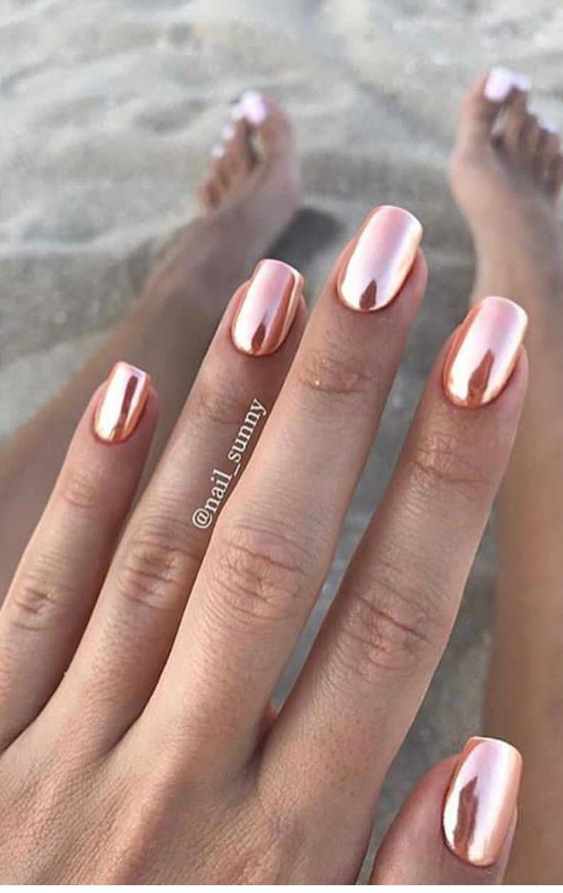 Chrome would be awesome on toes nails in pinterest