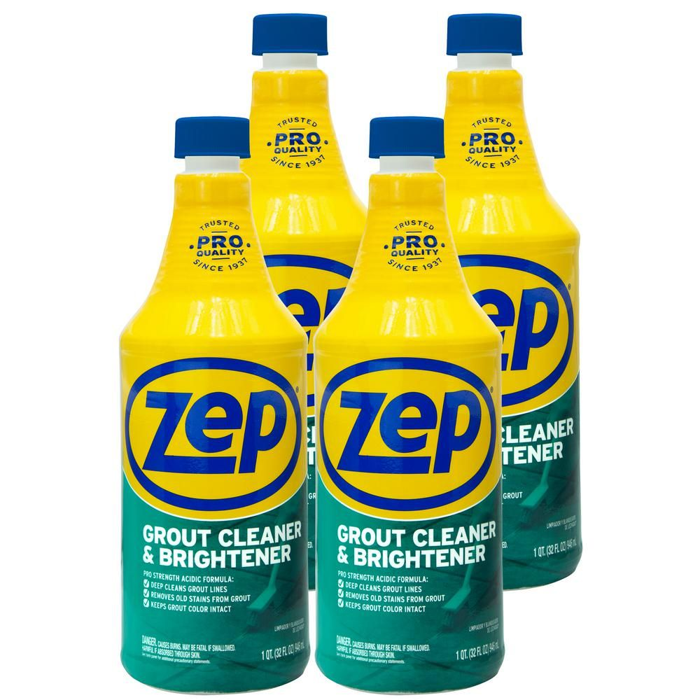 Zep 32 Oz Grout Cleaner And Brightener Case Of 4 Grout Cleaner Best Grout Cleaner Grout