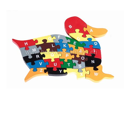 Duck Shape wooden Alphabets / Numbers Puzzle