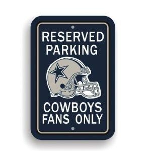 Dallas Cowboy Nfl Fans Only Plastic Parking Sign All