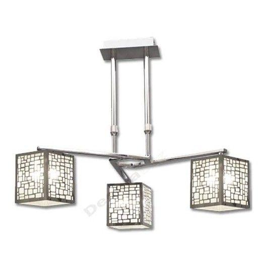 Lámpara acabada cromo 3 pantallas modernas Lámparas de techo - lamparas de techo modernas