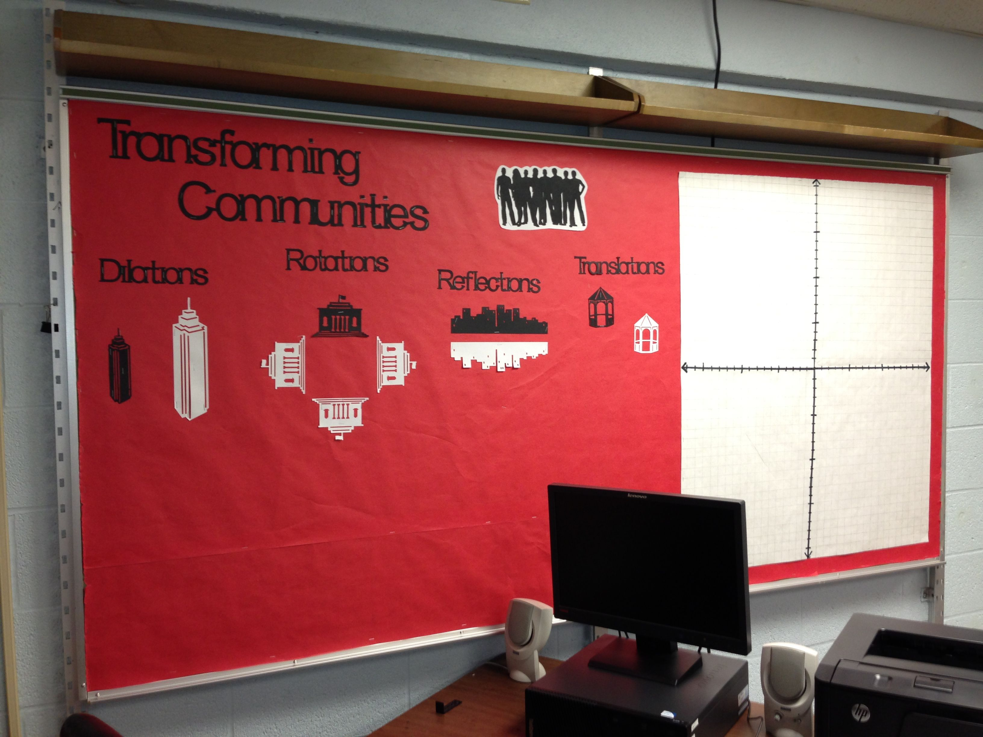 Transformations Interactive Bulletin Board With Coordinate