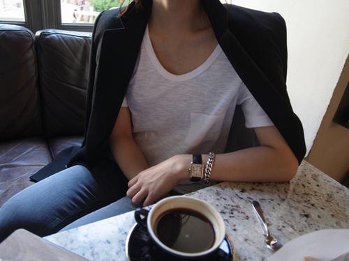 morning encounter, coffee black!