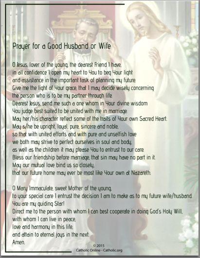 finding a good catholic husband