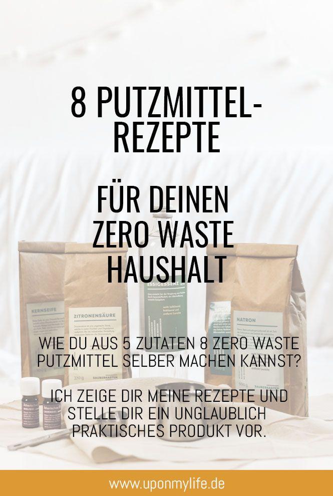8 Zero Waste Putzmittel aus 5 Zutaten - Less Waste im Haushalt