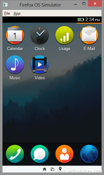 Firefox OS Apps Run Firefox OS on PC using Firefox OS
