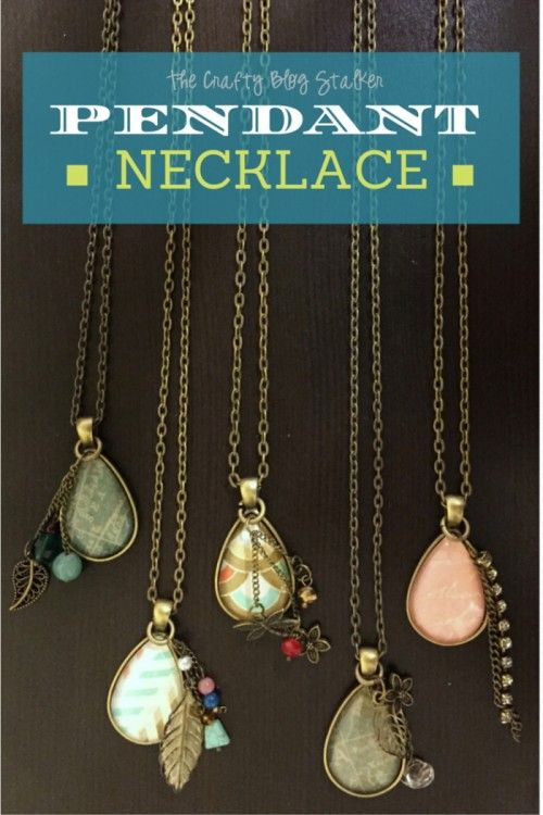 Make it yourself monogram necklace pendants create and easy design and create a beautiful pendant necklace diy jewelry makes a great gift or simply solutioingenieria Images