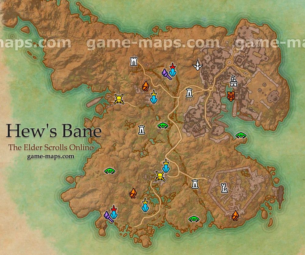 Hew\'s Bane zone map. Added with the Thieves Guild DLC. | Elder ...