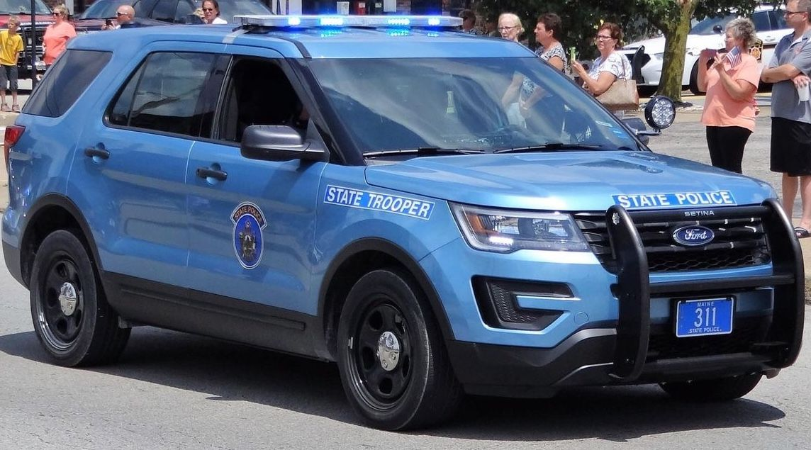 Maine State Police State Trooper 311 Ford Interceptor Utility Police Cars Ford Police Us Police Car