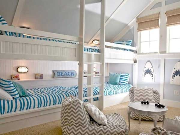 Decorare la cameretta 32 idee camerette a tema mare bunk rooms bunk bed and room decor - Decorare la cameretta ...